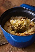 Lamb biryani with rice