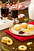 Christmas cakes and pastries and glogg (Denmark)