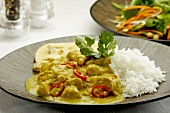 Chicken korma with rice