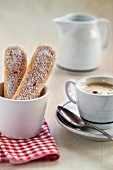 Sponge fingers and coffee