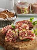 Ham and asparagus aspic