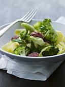 Ribbon pasta with broccoli