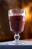 A glass of mulled wine