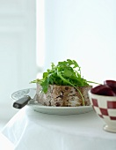 Christmas terrine with rocket