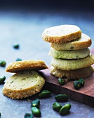 A stack of pistachio plates