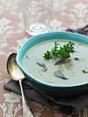 Mushroom soup with thyme
