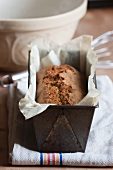 Pumpkin and poppy seed cake with lemon in a loaf tin