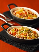 Barley bake with vegetables