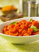 Carrots with orange glaze