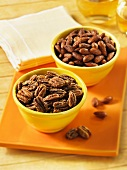 Spiced pecan nuts and almonds