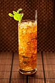 Mint Julep with a Straw