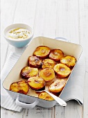Grilled nectarines with passion fruit yogurt