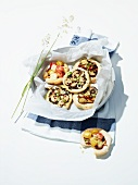 Mini pizzas for a picnic