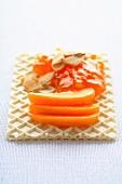 Confettura di albicocche (apricot jam with orange and honey)
