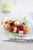 Insalata alla greca (Greek salad, Italy)