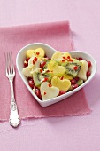 Fruit salad for Valentine's Day