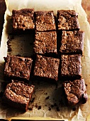 Brownies on a baking tray