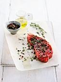 Chateaubrian Steak; Sliced; With Seasonings
