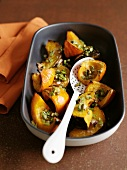 Overn-baked pumpkin wedges