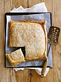 Spinach pie with sesame seeds