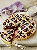 Berry tart with lattice crust