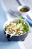 Fish salad with coriander