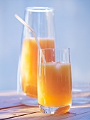 Peach and melon juice