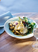 Monk fish fillet with mussels