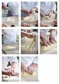 Making home-made ravioli