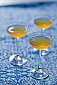 Three glasses of fig wine