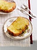Flourless almond cake with lime zest
