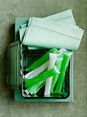Peppermint sticks (white and green)