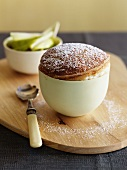 Soufflé with icing sugar