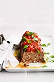 Meat loaf with tomato and parsley