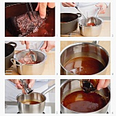 Sauce für Sauerbraten zubereiten