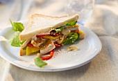 Fruity chicken sandwich