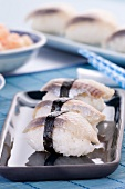 Herring Sushi on White