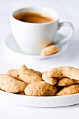 Espresso and hazelnut biscuits