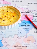 Quiche lorraine on a map
