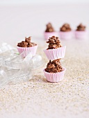 Chocolate crispy cakes