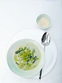 Minestrone with spring vegetables
