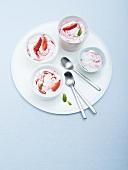 Vacherin with strawberries