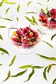 Fruit salad with agar agar