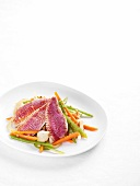 Red mullet with escabeche vegetables