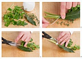 Making bouquet garni