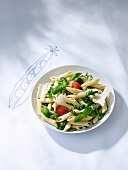 Penne with spring vegetables and Parmesan