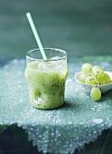 A grape and kiwi smoothie