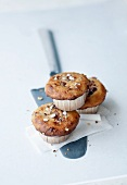 Hazelnut muffins with plum compote