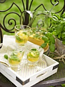 Peach punch with basil