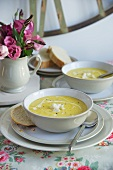 Cheese and cauliflower soup